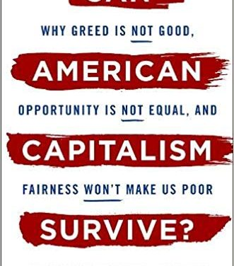 """New on Our Bookshelf: """"Can American Capitalism Survive?"""""""