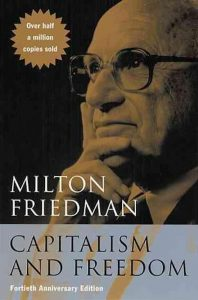 cover of Friedmans 'Capitalism and freedom'
