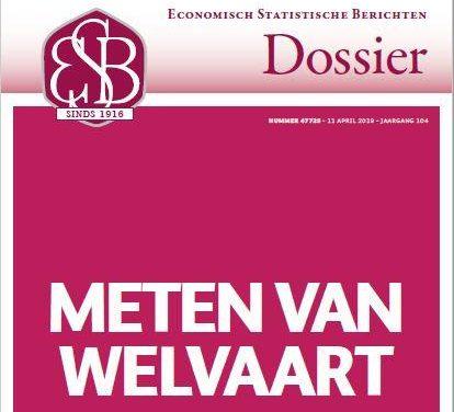 Meten van Welvaart – Nieuw ESB Dossier