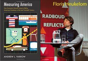 Floris Heukelom met de kaft van 'measuring america'