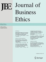 cover of the journal of business ethics
