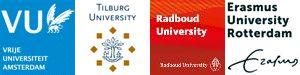 Logos deelnemende universiteiten