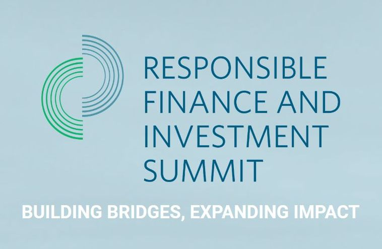 Screenshot from site of the responsible finance and investment summit
