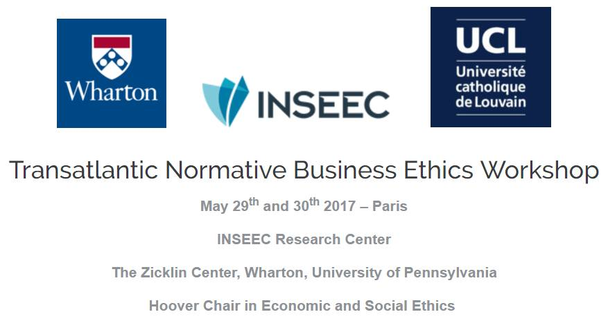 Screenshot of webpage of the Transatlantic Normative Business Ethics Workshop