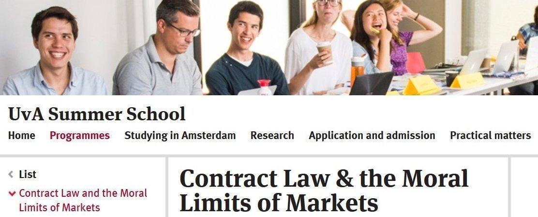 screenshot from the summer school website