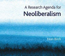 cover of a research agenda on neoliberalism