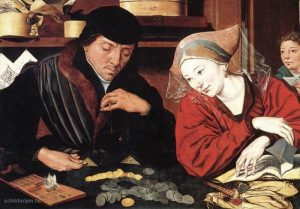 Banker with his wife