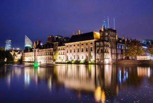 the Dutch parliament buildings
