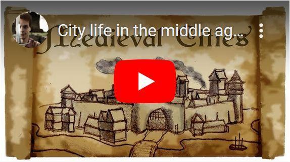 Het stadsleven in de middeleeuwen