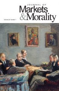 cover issue 41 of the Journal of Markets & Morality