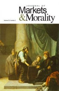 Journal of Markets & Morality vol 20 no 2