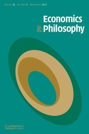 economics & philosophy journal cover