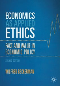 Economics as Applied Ethics; Fact and Value in Economic Policy