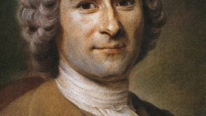 Painting of Jean-Jacques Rousseau