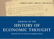cover of the journal of the history of economic thought