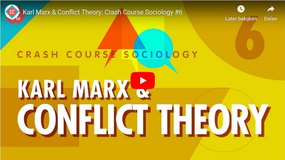 De conflictheorie van Karl Marx