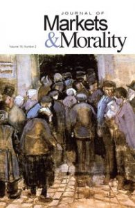 cover of issue 40 of the journal of markets & morality