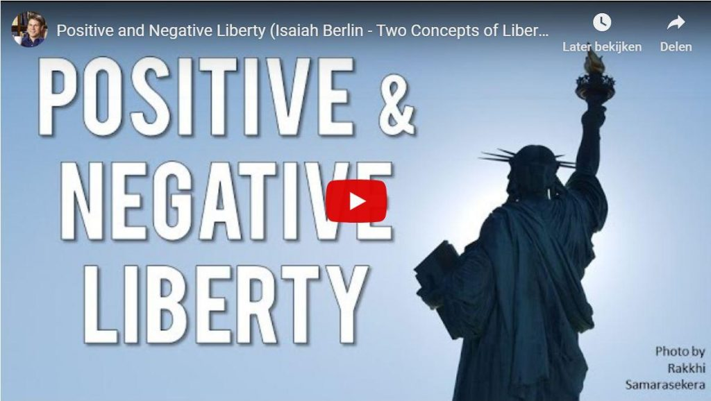 Positieve en negatieve vrijheid