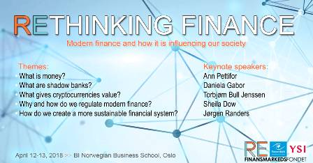 rethinking finance event in Oslo