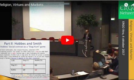 Luigino Bruni on Religion, Virtues and Markets