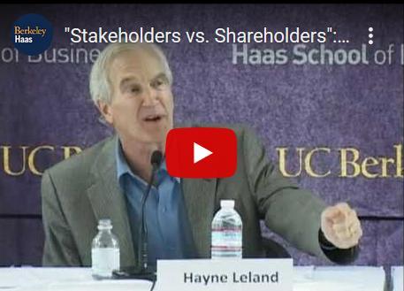 Debat over 'stakeholders' versus 'shareholders'