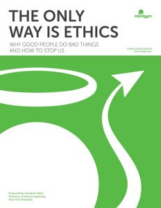 cover of the white paper on business ethics