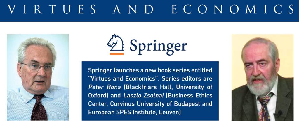 New Book Series on Virtue and Economics