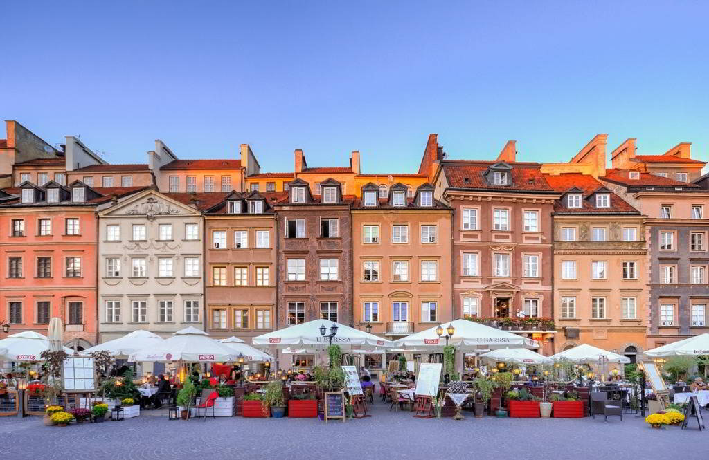 Market square in Warsaw